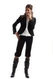 Große schauende Geschäftsfrau Lizenzfreies Stockfoto