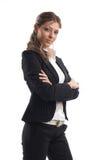Große schauende Geschäftsfrau lizenzfreie stockfotografie