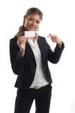 Große schauende Geschäftsfrau Lizenzfreie Stockbilder
