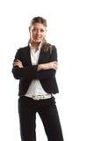 Große schauende Geschäftsfrau Lizenzfreie Stockfotos