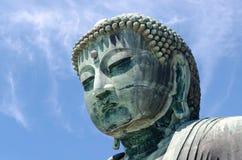 Große Skulptur Buddhas Daibutsu, Kamakura, Tokyo, Japan stockbilder