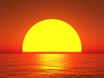Große Sonne Lizenzfreie Stockfotografie