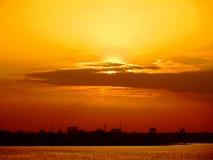 Große Sonnenuntergangansicht Lizenzfreies Stockbild
