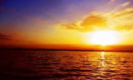 Große Sonnenuntergangansicht Stockfotos