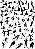 Große Sportleransammlung Stockfotos