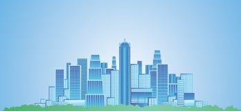 Große Stadt lizenzfreie abbildung