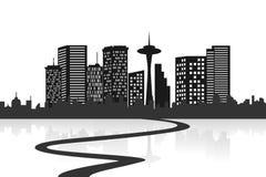 Große Stadt-Skyline lizenzfreie abbildung