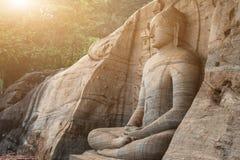 Große Steinbuddha-Statue Lizenzfreies Stockfoto