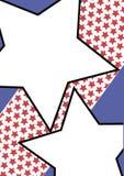 Große Sterne auf einem starbanner Lizenzfreie Stockfotos