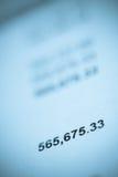 Große Summe-O Rechnung oder Sparungen Lizenzfreie Stockbilder