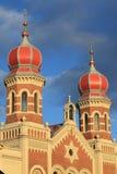 Große Synagoge in Pilsen Stockbilder