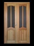 Große Tür über Schwarzem Stockbild