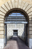 Große Tür des Berufungsgerichts in Aix en Provence Stockfotos