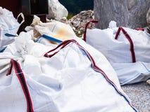 Große Taschen für spezielle Müllabfuhr Lizenzfreies Stockbild