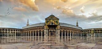 Große Umayyad-Moschee von Damaskus stockfotografie
