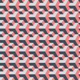 Große und kleine Würfel Abstrakter nahtloser geometrischer Hintergrund Lizenzfreie Stockfotografie