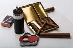 Große und kleine Zigarren Stockfotos