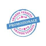 Große Verkäufe! JETZT! Italienischer Stempel für Druck Lizenzfreies Stockfoto