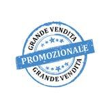 Große Verkäufe! JETZT! Italienischer Stempel für Druck Stockfoto
