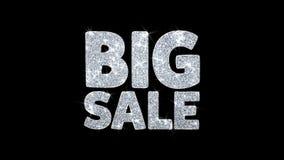 Große Verkaufs-Blinkentext-Wunsch-Partikel-Grüße, Einladung, Feier-Hintergrund