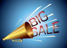 Große Verkaufsansage Stockbild