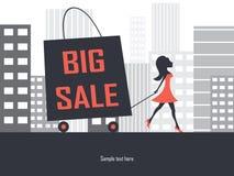 Große Verkaufseinkaufstasche stock abbildung
