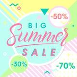 Große Verkaufsfahne des Sommers Stockbilder