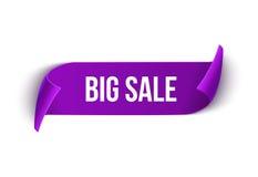 Große Verkaufsvektorband-Designschablone Fahnenverkaufstag Sonderangebot-Rabattaufkleber des Marktes lizenzfreie abbildung