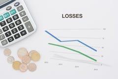 Große Verluste Lizenzfreie Stockbilder