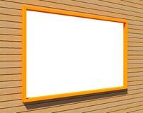 Große Wand mit Vortragplatte Lizenzfreie Stockfotos