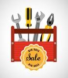 Große Werkzeuge für Verkauf Lizenzfreies Stockfoto