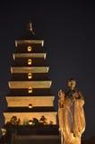 Große wilde Gans-Pagoden-buddhistische historische Gebäude Xi'ans Stockfoto