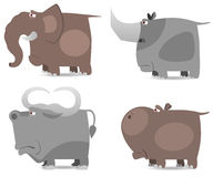Große wilde Tiere eingestellt lizenzfreie abbildung