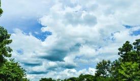 Große Wolken und blauer Himmel Lizenzfreie Stockfotografie