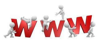 Große WWW-Zeichen Lizenzfreie Stockfotografie
