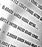 Große Zahl von mathematischen Formeln auf weißem Hintergrund HDR Stockbild