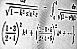 Große Zahl von mathematischen Formeln auf weißem Hintergrund HDR Stockfotografie