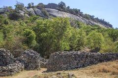 Große Zimbabwe-Ruinen lizenzfreies stockfoto