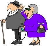 Großeltern-Besuch Lizenzfreies Stockfoto