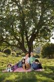 Großelternenkelkindpicknick Stockbilder