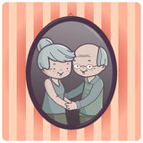 Großelternporträt vektor abbildung