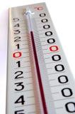 Großer äußerer Thermometer Stockfotografie