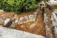 Großer Abfluss im Agora, Athen Stockfotos