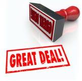 Großer Abkommen-Stempel-Sonderverkauf-Handel-Rabatt-Kauf stock abbildung