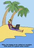 Großer Absatzerfolg im Urlaub Stockfotos