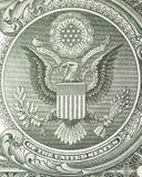 Großer Adler des Kamms auf Dollarschein Lizenzfreie Stockbilder