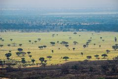 Großer afrikanischer Riss in Uganda lizenzfreie stockfotos