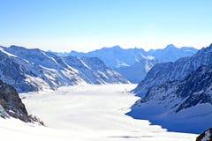 Großer Aletsch Gletscher, die Schweiz Stockfotos