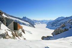 Großer Aletsch Gletscher, die Schweiz Lizenzfreies Stockfoto