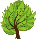 Großer alter Baum Getrennt Lizenzfreie Stockfotos